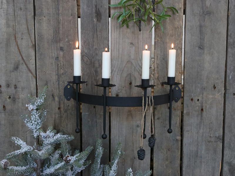 Wandkerzenhalter für 4 Kerzen