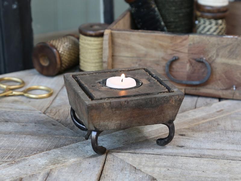Alte Druckplatte für Teelicht